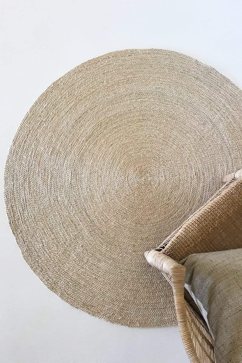 The Dharma Door Rug Shahi Round Jute Rug - 140cm