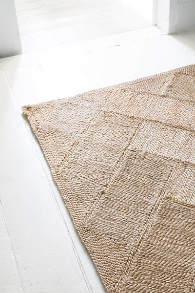 The Dharma Door Rugs and Runners Bhola Jute Rug - 300 x 200cm Bhola Jute Rug - Natural - 318 x 200cm