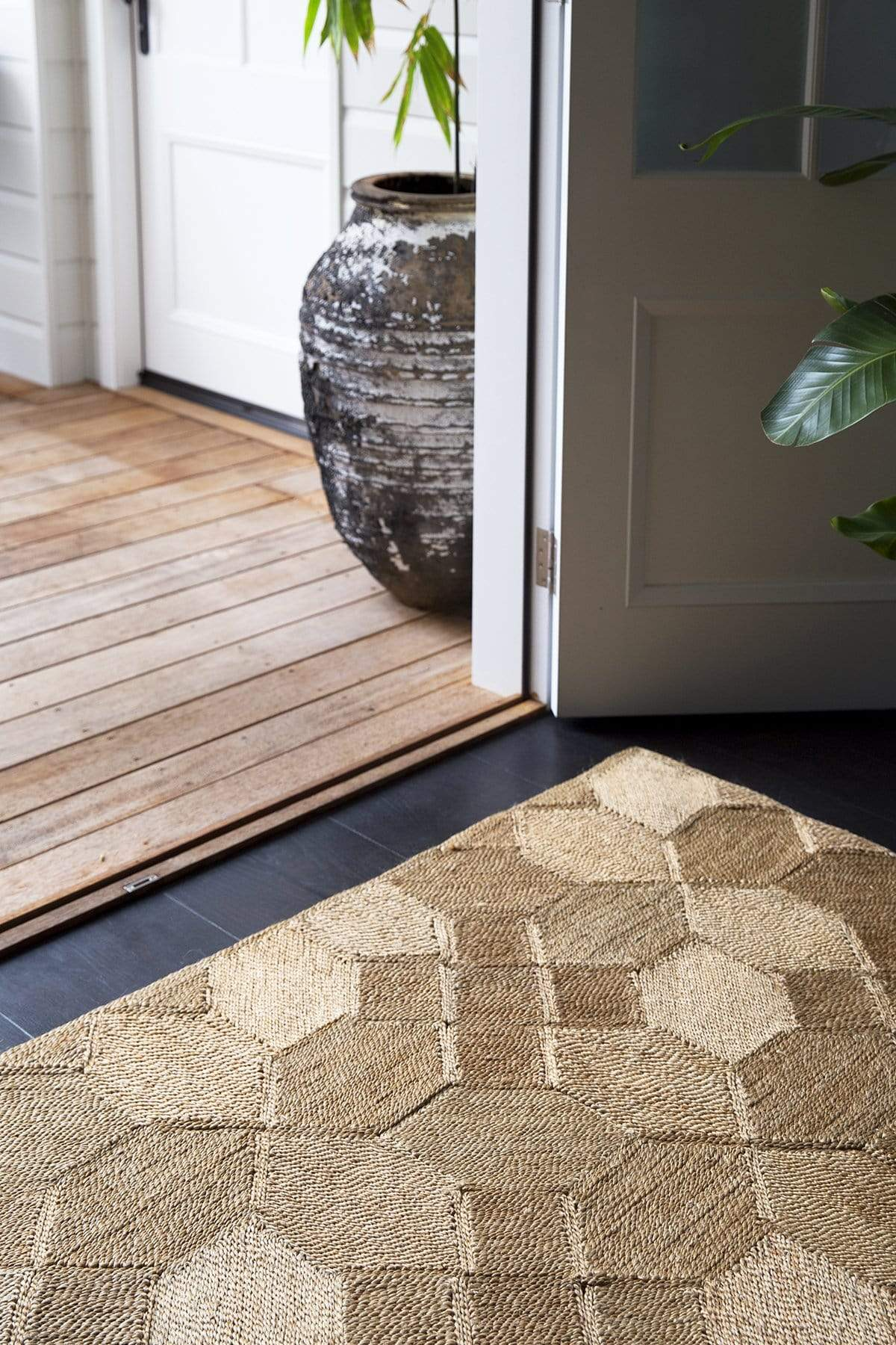 The Dharma Door Rugs and Runners Kasba Jute Runner - Natural