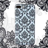 iPhone 7 plus Textured Soft Case (Lace Flower)