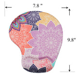 LIZI MANDU Memory Foam Non Slip Mouse Pad Wrist Rest For Office, Computer, Laptop & Mac - Durable & Comfortable & Lightweight For Easy Typing & Pain Relief-Ergonomic Support(Colorful Flower)