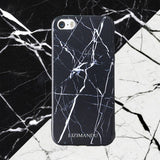 iPhone 5s Case,LIZI MANDU Soft TPU textured pattern Case for iPhone 5s/5/se(Marble Black)