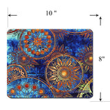 Mouse Pad(10.2 inch x 8.2 inch) ,LIZI MANDU Premium Quality Pattern Anti Slip Computer PC Gaming Mouse Mat Soft Comfort Feel Finish(Blue Flower)