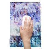 LIZI MANDU Memory Foam Non Slip Mouse Pad Wrist Rest - Durable & Comfortable & Lightweight For Easy Typing & Pain Relief-Ergonomic Support(Crystal)