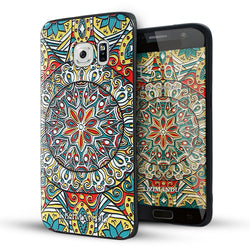 Samsung Galaxy S6 Edge Case,Lizimandu Soft TPU Textured Pattern Case for Samsung Galaxy S6 edge(Mysterious Totem)
