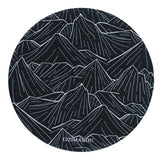 Mouse Pad (9.8 inch x 9.8 inch) ,LIZI MANDU Premium Quality Pattern Anti Slip Computer PC Round Mouse Mat Soft Comfort Feel Finish(Black Mountain)
