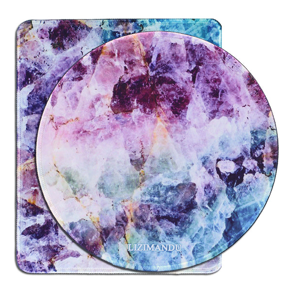 Mouse Pad Set of 2, LIZI MANDU Premium Quality Pattern Anti Slip Computer PC Mouse Mat Soft Comfort Feel Finish(Crystal)