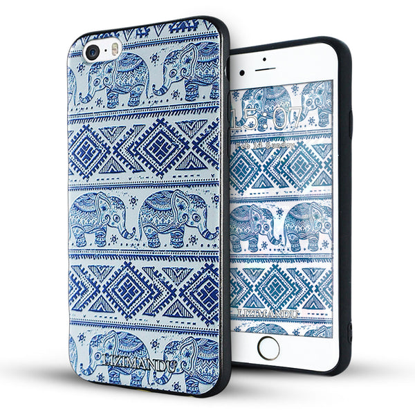 iPhone 6s case,LIZI MANDU TPU 3d pattern Case for iPhone 6s case(Elephant)