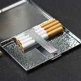 Lizimandu Art Stainless Steel ID or Cigarettes Case and 100's Cigarette(Waves)