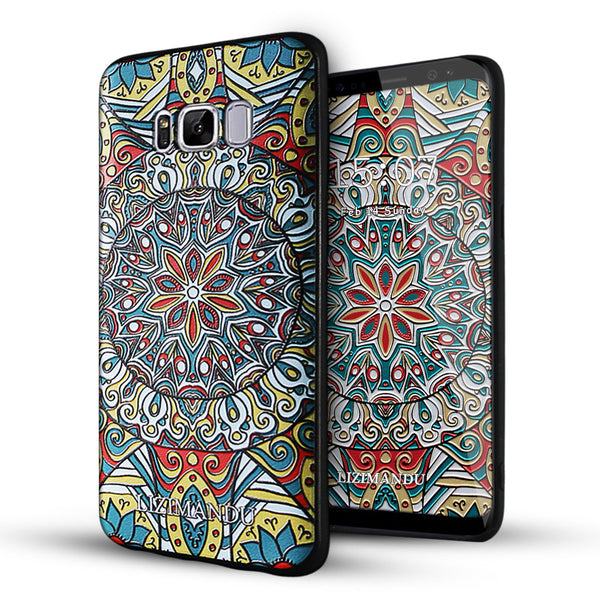 Samsung Galaxy S8 Plus Case,LIZI MANDUSoft TPU textured pattern Case for Samsung Galaxy S8 Plus(Mysterious Totem)