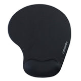 LIZI MANDU Memory Foam Non Slip Mouse Pad Wrist Rest For Office, Computer, Laptop & Mac - Durable & Comfortable & Lightweight For Easy Typing & Pain Relief-Ergonomic Support(Black)