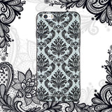iPhone 6 / 6s Textured Soft Case (Lace Flower)