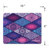 Mouse Pad(10.2 inch x 8.2 inch) ,LIZI MANDU Premium Quality Pattern Anti Slip Computer PC Gaming Mouse Mat Soft Comfort Feel Finish(Diamond Boho)