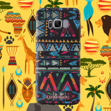 Samsung Galaxy S8 Case,LIZI MANDU Soft TPU textured pattern Case for Samsung Galaxy S8(Africa Style)