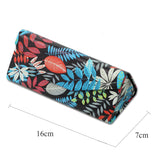 Foldable Glasses Case, Glasses Case, Hard Shell Protects & Stores Reading Eyeglasses and Medium Eyewear, Bonus Cleaning Cloth, By LIZI MANDU(Maple)