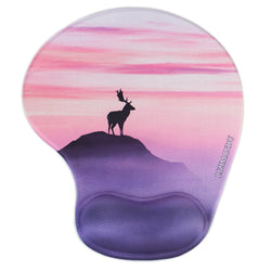 LIZI MANDU Memory Foam Non Slip Mouse Pad Wrist Rest For Office, Computer, Laptop & Mac - Durable & Comfortable & Lightweight For Easy Typing & Pain Relief-Ergonomic Support(Deer Purple)