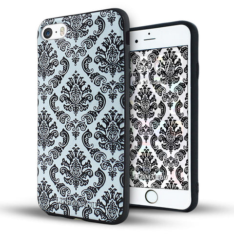 iPhone 6 plus Textured Soft Case (Lace Flower)