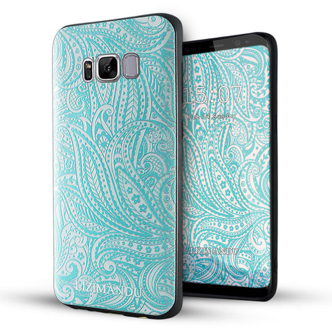 Samsung Galaxy S8 Case,LIZI MANDU Soft TPU textured pattern Case for Samsung Galaxy S8(Spiral)
