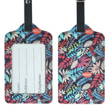 LIZI MANDU PU Leather Luggage Tags Suitcase Labels Bag Travel Accessories - Set of 2(Maple)