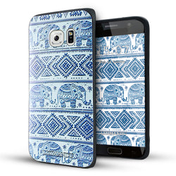 Samsung Galaxy S6 Edge Case,Lizimandu Soft TPU Textured Pattern Case for Samsung Galaxy S6 edge(Elephant)