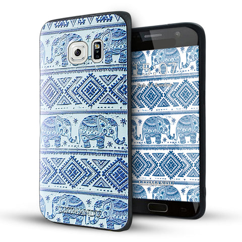 Samsung Galaxy S6 Edge Case,LIZI MANDU Soft TPU Textured Pattern Case for Samsung Galaxy S6 edge(Elephant)