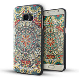 Samsung Galaxy S7 Textured Soft Case (Mystic compass)
