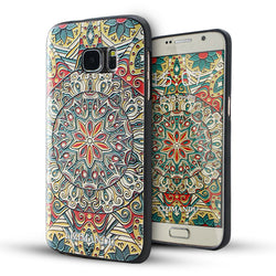 Samsung Galaxy S7 Case,LIZI MANDU Soft TPU textured pattern Case for Samsung Galaxy S7(Mystic compass)