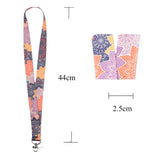 Lanyard, LIZI MANDU Keychain Holder Flat Lanyards with Swivel Hook Attachment(Colorful Flower)