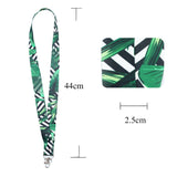 Lanyard, LIZI MANDU Keychain Holder Flat Lanyards with Swivel Hook Attachment(Black Leaves)