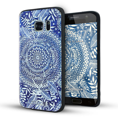 Samsung Galaxy S7 Case,LIZI MANDU Soft TPU textured pattern Case for Samsung Galaxy S7(Sky Flower)