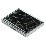 LIZI MANDU Art Stainless Steel ID or Cigarettes Case and 100's Cigarette(Black Fragment)