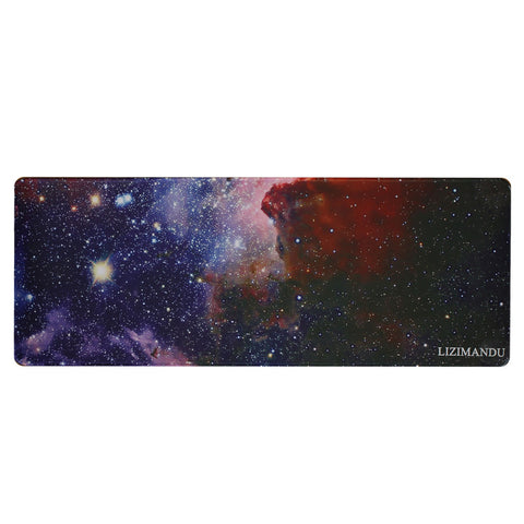 Large Gaming Mouse Pad(78 cm x 30 cm x 0.2cm) ,LIZI MANDU Premium Quality Pattern Anti Slip Stitched Edges Computer PC Keyboard Mouse Mat Soft Comfort Feel Finish(Starry Sky)