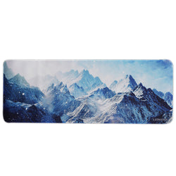 Large Gaming Mouse Pad(78 cm x 30 cm x 0.2cm) ,LIZI MANDU Premium Quality Pattern Anti Slip Stitched Edges Computer PC Keyboard Mouse Mat Soft Comfort Feel Finish(Snow Mountain)