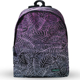 LIZI MANDU Backpack for Girls and Women Casual Canvas School Backpack Sports Travel Bag(Graded purple)