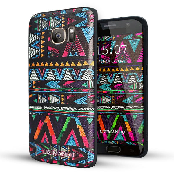 Samsung Galaxy S7 Edge case,LIZI MANDU TPU 3d pattern Case for Samsung Galaxy S7 Edge(Africa Style)
