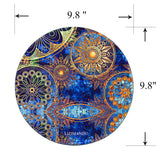 Mouse Pad (9.8 inch x 9.8 inch) ,LIZI MANDU Premium Quality Pattern Anti Slip Computer PC Round Mouse Mat Soft Comfort Feel Finish(Blue Flower)