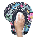 LIZI MANDU Memory Foam Non Slip Mouse Pad Wrist Rest For Office, Computer, Laptop & Mac - Durable & Comfortable & Lightweight For Easy Typing & Pain Relief-Ergonomic Support(Rabbit Flower)
