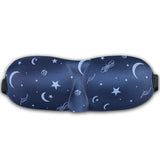 LIZI MANDU Deep Molded Sleep Mask, With Ear Plug And Carry Pouch Llightweight & Comfortable & Super Soft With Adjustable Strap Eye Mask(Moon)