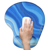 LIZI MANDU Memory Foam Non Slip Mouse Pad Wrist Rest For Office, Computer, Laptop & Mac - Durable & Comfortable & Lightweight For Easy Typing & Pain Relief-Ergonomic Support(Blue Stone)