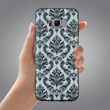 Samsung Galaxy S8 Case,LIZI MANDU Soft TPU textured pattern Case for Samsung Galaxy S8(Lace Flower Black)