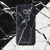 Samsung Galaxy S7 Edge case,LIZI MANDU TPU 3d pattern Case for Samsung Galaxy S7 Edge(Marble Black)