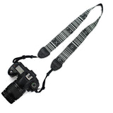LIZI MANDU Vintage Soft Multi Anti-Slip DSLR Camera Neck/Shoulder Strap for Canon, Nikon, Sony, Panasonic, FujiFilm, Olympus and more Digital SLR Camera Universal(Thin Zebra)