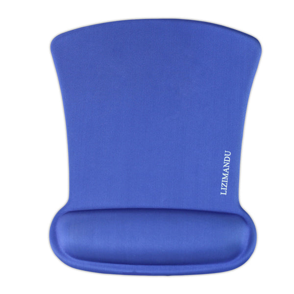 LIZI MANDU Memory Foam Mouse Pad Mat with Wrist Rest(Blue)