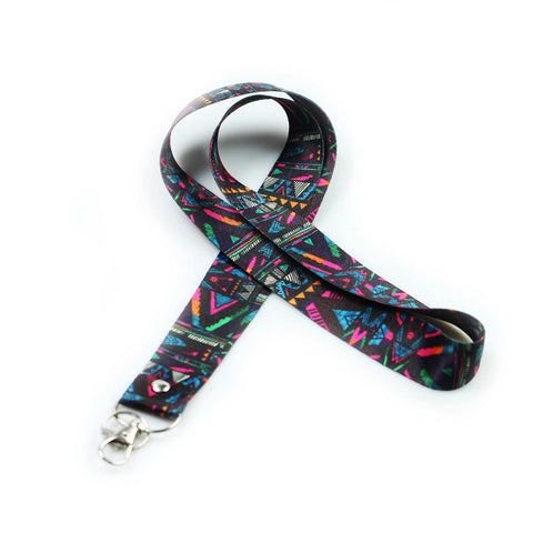 Lanyard, LIZI MANDU Keychain Holder Flat Lanyards with Swivel Hook Attachment(Africa Culture)
