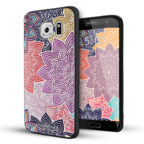 Samsung Galaxy S6 Case,LIZI MANDU Soft TPU textured pattern Case for Samsung Galaxy S6(Colorful Gear)