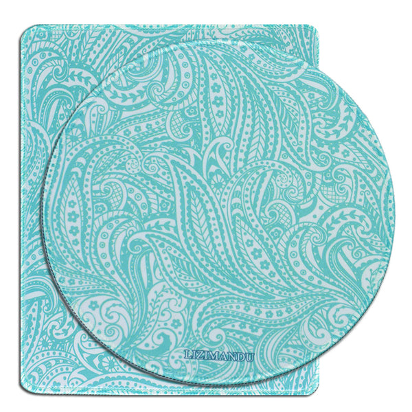 Mouse Pad Set of 2, LIZI MANDU Premium Quality Pattern Anti Slip Computer PC Mouse Mat Soft Comfort Feel Finish(Spiral)
