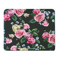 Mouse Pad(10.2 inch x 8.2 inch) ,LIZI MANDU Premium Quality Pattern Anti Slip Computer PC Gaming Mouse Mat Soft Comfort Feel Finish(Black Rose)