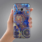 Samsung Galaxy S8 Case,LIZI MANDU Soft TPU textured pattern Case for Samsung Galaxy S8(Blue Flower)