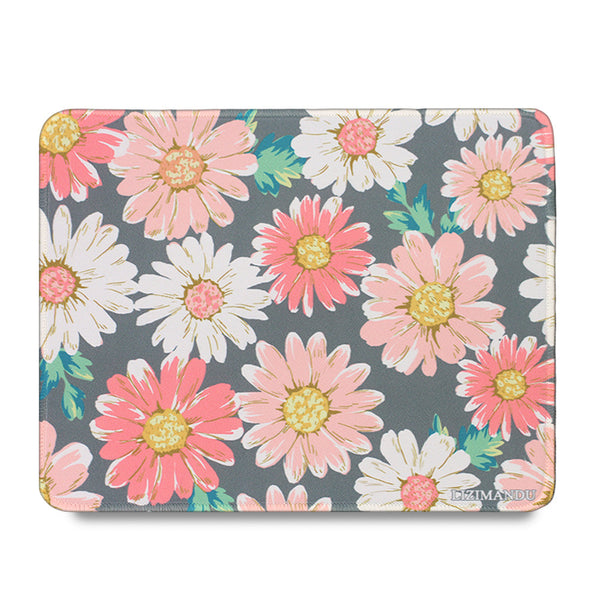 Mouse Pad(10.2 inch x 8.2 inch) ,LIZI MANDU Premium Quality Pattern Anti Slip Computer PC Gaming Mouse Mat Soft Comfort Feel Finish(Daisy)