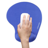 LIZI MANDU Memory Foam Non Slip Mouse Pad Wrist Rest For Office, Computer, Laptop & Mac - Durable & Comfortable & Lightweight For Easy Typing & Pain Relief-Ergonomic Support(Blue)